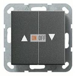 Выключатель управления жалюзи клавишный, 10 А / 250 В~ 015900 - 029428