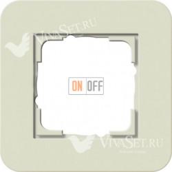 Рамка одинарная  Gira E3  песочный/антрацит 0211427