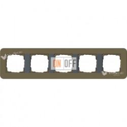 Рамка пятерная  Gira E3  дымчатый/антрацит 0215426