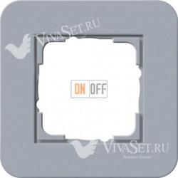 Рамка одинарная  Gira E3  серо-голубой/антрацит 0211424