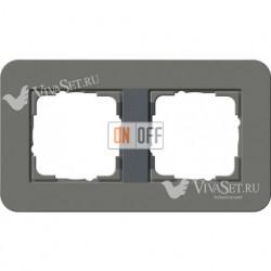 Рамка двойная  Gira E3  темно-серый/антрацит 0212423