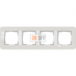 Рамка четверная  Gira E3 светло-серый/белый глянцевый 0214411