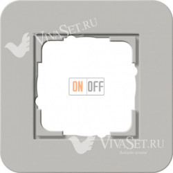 Рамка одинарная  Gira E3  серый/антрацит 0211422