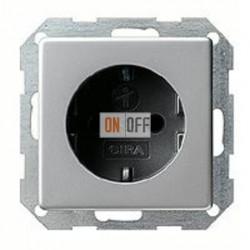 Розетка с заземляющими контактами 16 А / 250 В~ с защитой от детей и пиктограммой 0453203