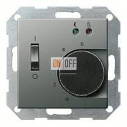 Термостат 230 В~ 10А с выносным датчиком для электрического подогрева пола механизм Eberle FRe 525 22 - 149420