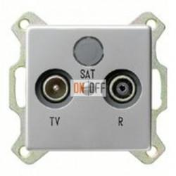 Розетка телевизионная проходная TV FM, диапазон частот от 4 до 2400 MГц 004100 - 0869203