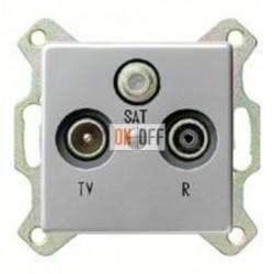Розетка телевизионная оконечная TV SAT FM, диапазон частот от 4 до 2400 MГц 093700 - 0869203