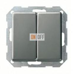 Выключатель двухклавишный, проходной (вкл/выкл с 2-х мест) 10 А / 250 В~ 010800 - 029520
