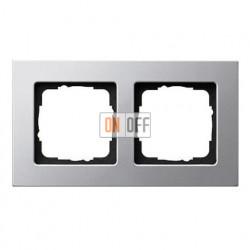 Рамка двойная, для гориз./вертик. монтажа Gira E 22, алюминий 0212203