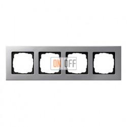 Рамка четверная, для гориз./вертик. монтажа Gira E 22, алюминий 0214203