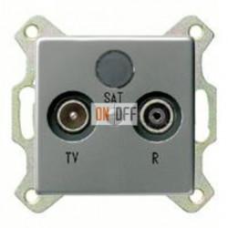 Розетка телевизионная проходная TV FM, диапазон частот от 4 до 2400 MГц 004100 - 086920