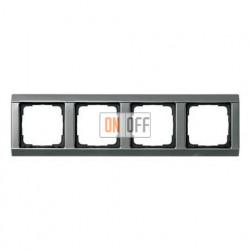 Рамка четверная, для гориз./вертик. монтажа, серия 20  Gira Edelstahl 021420