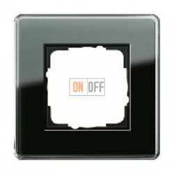 Рамка одинарная Gira Esprit Glass C черное стекло 0211505
