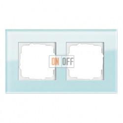 Рамка двойная, для гориз./вертик. монтажа Gira Esprit салатовое стекло 021218