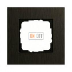 Рамка одинарная Gira Esprit алюминий коричневый 0211127