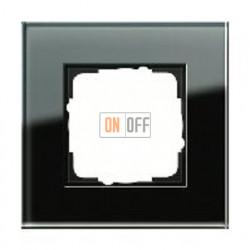 Рамка одинарная Gira Esprit черное стекло 021105
