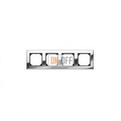 Рамка четверная, для гориз./вертик. монтажа Gira Esprit хром 021410