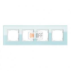 Рамка четверная, для гориз./вертик. монтажа Gira Esprit салатовое стекло 021418