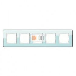 Рамка пятерная, для гориз./вертик. монтажа Gira Esprit Glass C салатовое стекло 0215518
