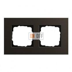Рамка двойная, для гориз./вертик. монтажа Gira Esprit алюминий коричневый 0212127