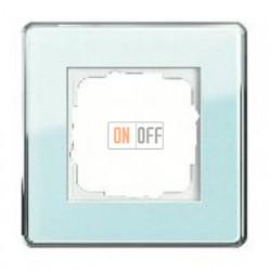 Рамка одинарная Gira Esprit Glass C салатовое стекло 0211518