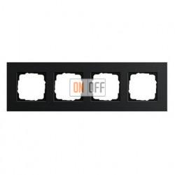 Рамка четверная, для гориз./вертик. монтажа Gira Esprit алюминий черный 0214126