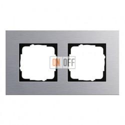 Рамка двойная, для гориз./вертик. монтажа Gira Esprit алюминий 021217