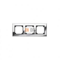 Рамка тройная, для гориз./вертик. монтажа Gira Esprit хром 021310