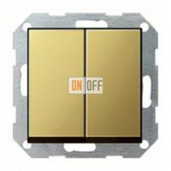 Выключатель двухклавишный, проходной (вкл/выкл с 2-х мест) 10 А / 250 В~ 010800 - 0295604