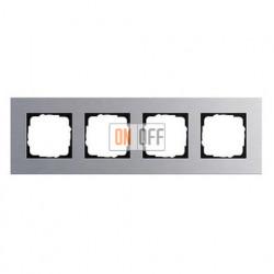 Рамка четверная, для гориз./вертик. монтажа Gira Esprit алюминий 021417