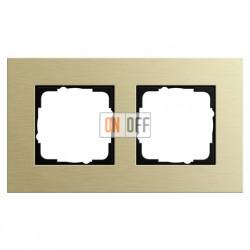 Рамка двойная Gira Esprit алюминий-светлое золото 0212217
