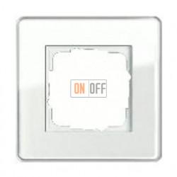 Рамка одинарная Gira Esprit Glass C белое стекло 0211512