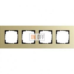 Рамка четверная Gira Esprit алюминий-светлое золото 0214217