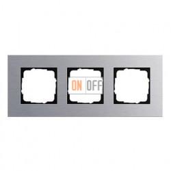 Рамка тройная, для гориз./вертик. монтажа Gira Esprit алюминий 021317
