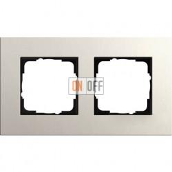 Рамка двухместная Gira Linoleum-Multiplex, светло-серый 0212220