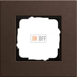 Рамка одноместная Gira Linoleum-Multiplex, коричневый 0211223