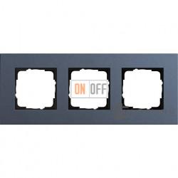 Рамка трехместная Gira Linoleum-Multiplex, синий 0213227