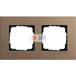 Рамка двухместная Gira Linoleum-Multiplex, светло-коричневый 0212221