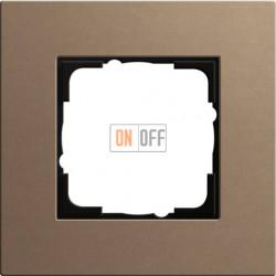 Рамка одноместная Gira Linoleum-Multiplex, светло-коричневый 0211221