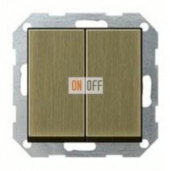 Выключатель двухклавишный, проходной (вкл/выкл с 2-х мест) 10 А / 250 В~ 010800 - 0295603