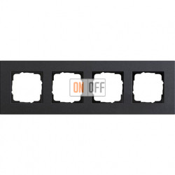 Рамка четырехместная Gira Linoleum-Multiplex, антрацит 0214226