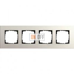 Рамка четырехместная Gira Linoleum-Multiplex, светло-серый 0214220