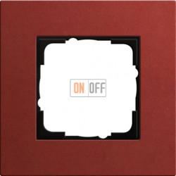 Рамка одноместная Gira Linoleum-Multiplex, красный 0211229