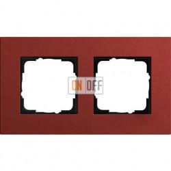 Рамка двухместная Gira Linoleum-Multiplex, красный 0212229