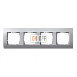 Рамка четверная, для гориз./вертик. монтажа, Gira Event алюминий 021436