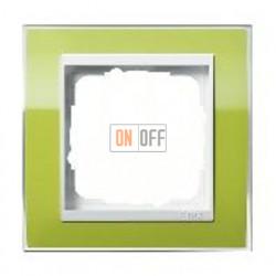 Рамка одинарная Gira Event Clear зеленый-белый глянец 0211743