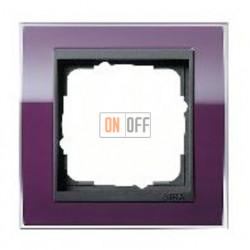 Рамка одинарная Gira Event Clear темно-фиолетовый-антрацит 0211758