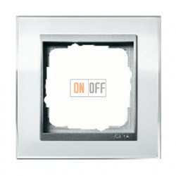 Рамка одинарная Gira Event Clear белый-алюминий 0211726