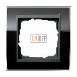 Рамка одинарная Gira Event Clear черный-антрацит 0211738