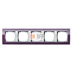 Рамка пятерная, для гориз./вертик. монтажа Gira Event Clear темно-фиолетовый-алюминий 0215756